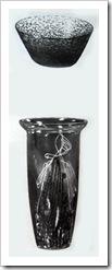 лоточек и декоративная ваза из стекла