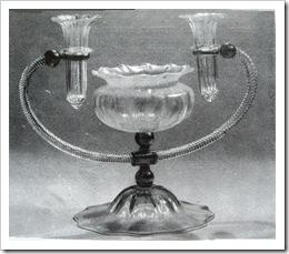 Вазочка с подсвечниками. Венецианское стекло.