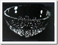 чаша декоративная аккодр из стекла