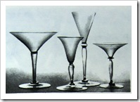 рюмки из стекла. венеция
