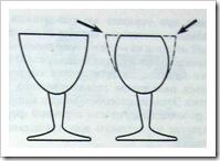 изменения конфигурации отпрессованного стакана