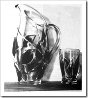 прибор для воды из стекла
