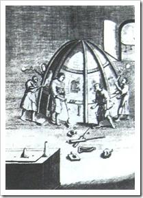 Работы у стекловаренной печи. Середина XVI в. н.э.