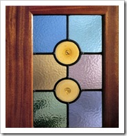 Витраж для двери из стекла