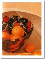 Ваза из стекла для фруктов с узором