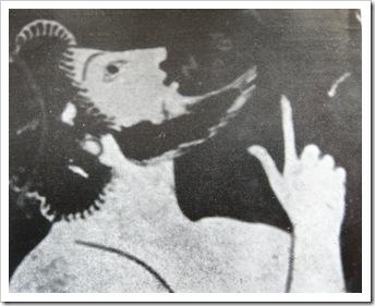 Пелика с ласточкой. Фрагмент росписи.