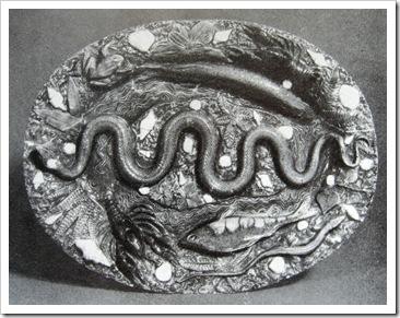 Бернар Палисси. Блюдо из серии сельских глин.Фрагмент.